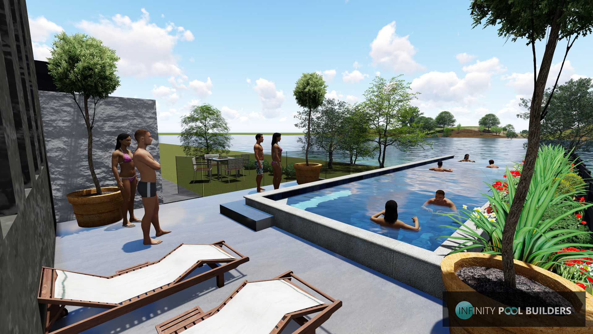 Infinity Pool Design. 3D POOL DESIGN BRISBANE Infinity Pool Design S ...